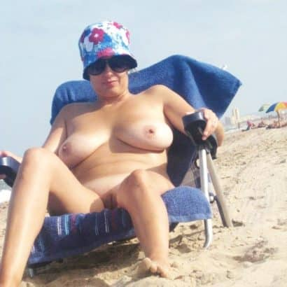 Muschi Fotos Milf am Strand