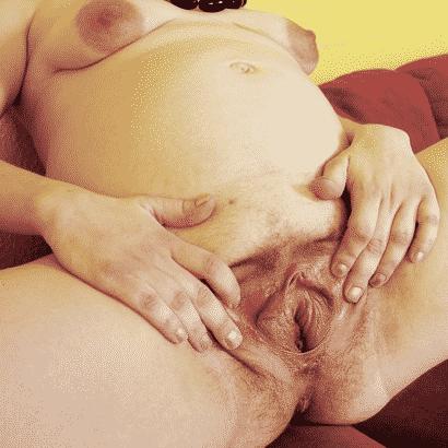 schwangere Muschi Loch zeigen