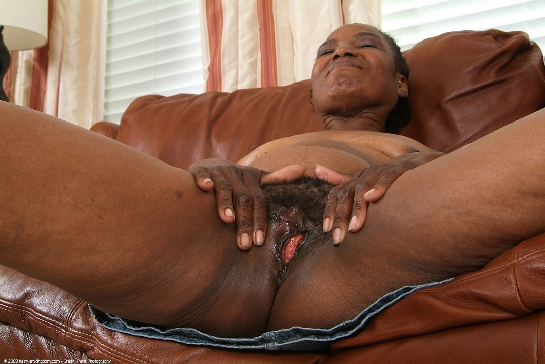 Ebony granny sucks and fucks cock