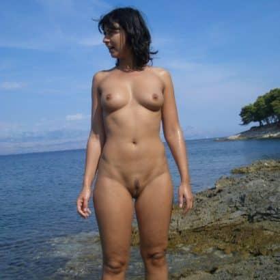 Muschi behaart am Beach