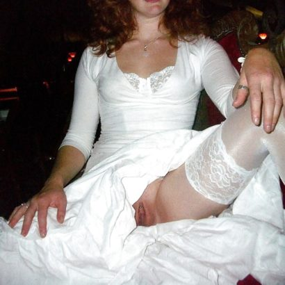 Braut Frauen ohne Höschen