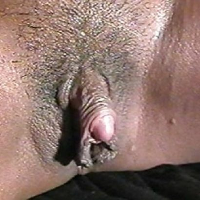Schwarzer großer Kitzler
